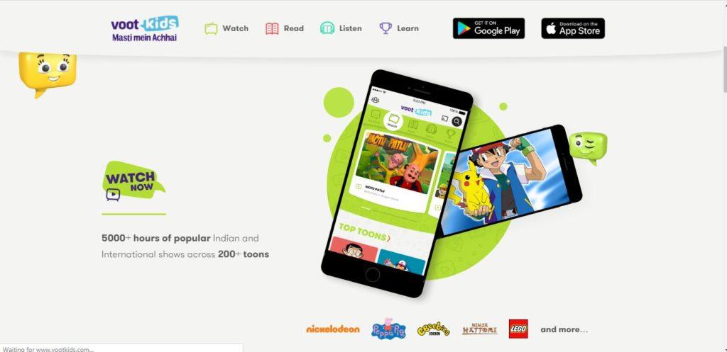 Voot kids homepage to watchcartoonsonline