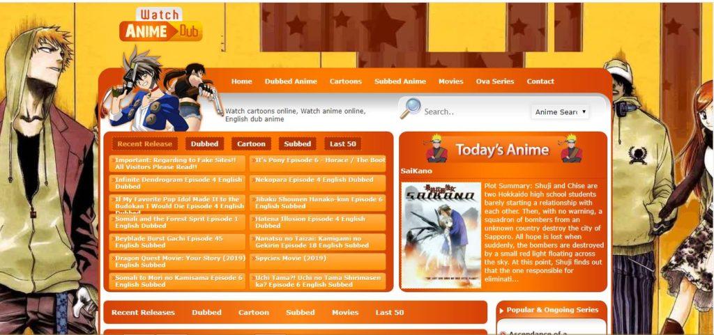 watchcartoononline homepage